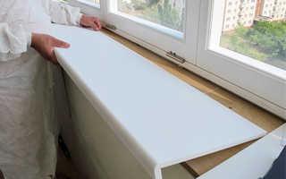 Как ставить подоконник на пластиковые окна