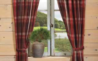 Занавески на окно в деревенском стиле
