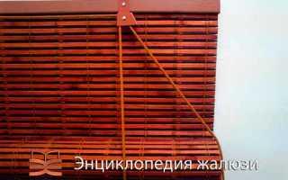 Жалюзи из бамбука на пластиковые окна