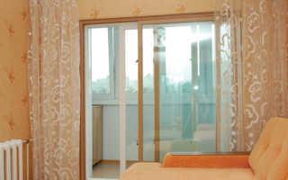 Раздвижные алюминиевые двери на балкон