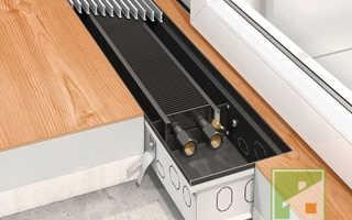 Батареи отопления в полу под окном